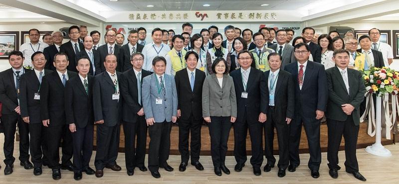 蔡英文总统嘉许大亚集团绿色企图心 推动产业转型迎向新世代